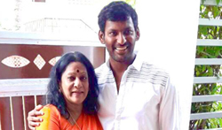Vishal celebrated Diwali with childrens - Pictures