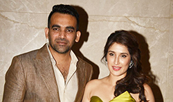 Zaheer Khan and Sagarika Ghatge's engagement bash in Mumbai - Pictures