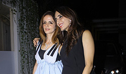 Sussanne Roshan, Zayed Khan and Farah Khan Ali snapped post party at Juhu - Pictures