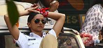 Deepika Padukone snapped at an AD shoot in mumbai