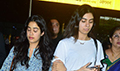 Janhvi Kapoor and Khushi Kapoor arrive back from Chennai post attending Sridevi prayer meet