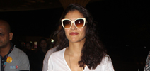 Kajol leaves for Singapore with mother-in-law to unveil her wax statue at Madame Tussauds