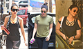 Kareena Kapoor, Malaika Arora and Ileana D'Cruz snapped at the gym