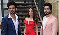 Nushrat Bharucha and Kartik Aaryan snapped on the sets of India's Next Superstars