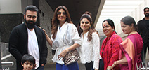 Shilpa Shetty and family spotted in Bandra for lunch