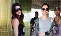 Tamannah, Kriti and Jackie Shroff at airport
