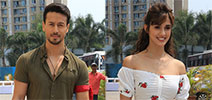 Tiger Shroff and Disha Patani snapped on the sets of DID Li'l Masters