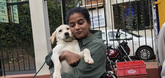 Priyamani's crush on a canine in Coonoor
