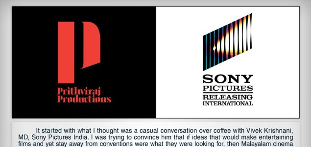 Prithviraj Productions, Sony Pictures join hands