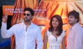 Abhishek and Priyanka unveil Drona merchandise