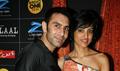 Anurag and Mahi at Gulaal Holi bash