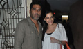 Sunil Shetty & Gulshan Grover at Red ALert Screeninig