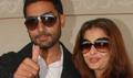 Aishwarya and Abhishek leave for Raavan london Premiere
