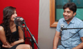 Sonam Kapoor with Aisha team with RJ Anurag Pandey of Fever FM