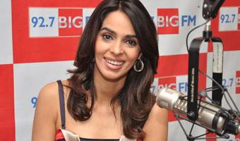 Mallika Sherawat promotes Double Dhamaal on Big FM