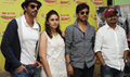 D Day Promotions At Radio Mirchi With Arjun, Irfan And Huma In Lower Parel