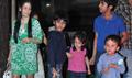 Manyata Watches Policegiri With Kids At Mumbai