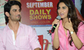 Sushant Singh And Vaani Kapoor At The Song Launch Of The Film Shuddh Desi Romance