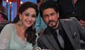 Shahrukh Khan And Madhuri Bond On Jhalak Dikhlaja-Chennal Express Special Shoot In Mumbai