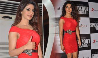 Bubbly Bash Along With Priyanka For Film Shootout At Wadala