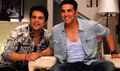 Akshay Promotes Its Entertainment on TV Serial Sets