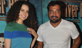 Kangana And Anurag Kashyap At Revolver Rani Screening