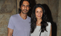 Arjun And Mehr Rampal At Roy Screening