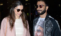 Ranveer And Deepika Arrive From Bajirao Mastani Promotions In Lucknow