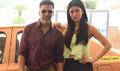 Akshay Kumar & Shruti Hassan At Carzonrent-Gabbar Is Back Meet & Greet