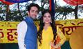 Ayushmann Khurrana & Bhumi Pednekar at the 'Dum Laga Ke Haisha' Holi bash