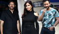 Saif, Katrina And Kabir Khan At Phantom Promotions