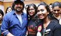 Irudhi Suttru Team At Ethiraj College For Promo