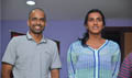 PV Sindhu and Gopichand @ Janatha Garage Premiere