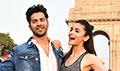 Varun Dhawan and Alia Bhatt promote their film Badrinath Ki Dulhania at India Gate