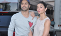 Varun Dhawan and Alia Bhatt snapped promoting their film 'Badrinath Ki Dulhania'