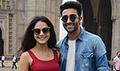 Aadar Jain and Anya Singh promote Qaidi Band at Gateway of India