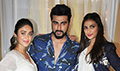 Cast and crew of the film Mubarakan grace the promotions of the film at JW Marriott Juhu