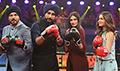 Mubarakan team promotes their film on Super Boxing League