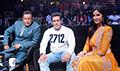 Salman Khan and Katrina Kaif on the sets of Dance India Dance