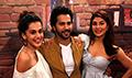 Varun Dhawan, Jacqueline Fernandez and Taapsee Pannu snapped promoting 'Judwaa 2' at Mehboob Studio