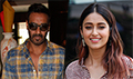 Ajay Devgn and Ileana D'Cruz snapped during Raid promotional interviews