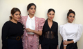 Cast of the film Veere Di Wedding snapped attend a press meet