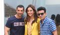 John Abraham, Manoj Bajpayee and Aisha Sharma snapped during media interaction for their film Satyamave Jayate