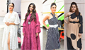 Kareena Kapoor, Swara Bhaskar Sonam Kapoor and Shikha Talsania snapped promoting their film Veere Di Wedding
