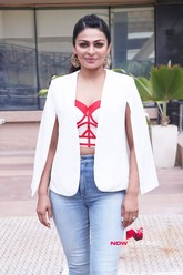 Diljit Dosanjh and Neeru Bajwa snapped promoting her film Shadaa